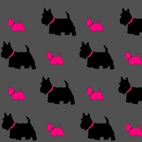 Scottie dog pink by C's