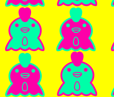 Warhol Chicks fabric by e_doubleyou on Spoonflower - custom fabric