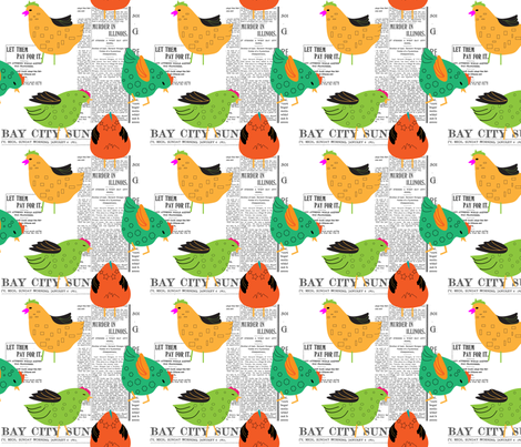 Bay_City_Chicks fabric by ©_lana_gordon_rast_ on Spoonflower - custom fabric