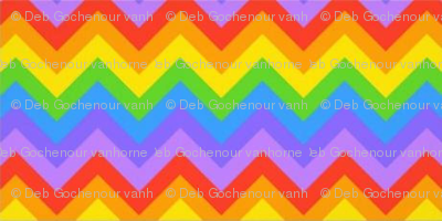rainbow chevron indian blanket
