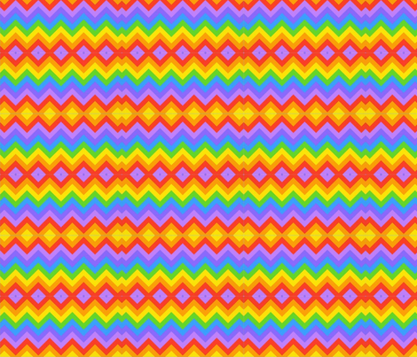 rainbow chevron indian blanket fabric by vos_designs on Spoonflower - custom fabric