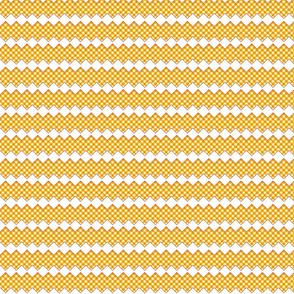 gingham rick rack orange