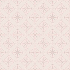 Moroccan Tiles 2 - Pale Pink