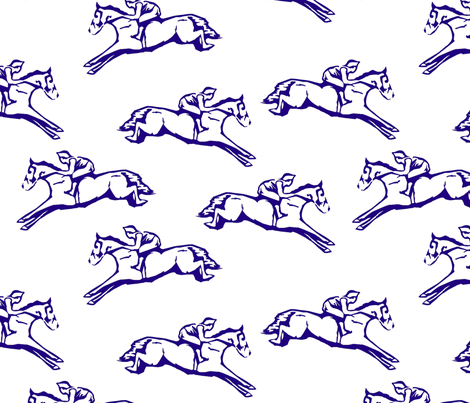Navy Hurdlers fabric by ragan on Spoonflower - custom fabric