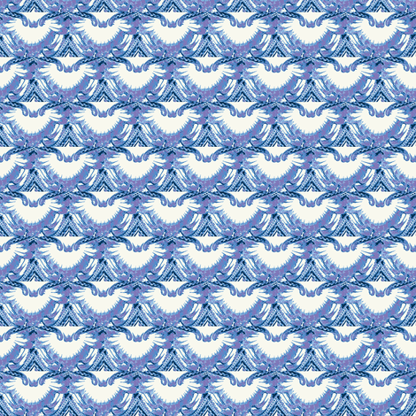 Blue Owls fabric by amyvail on Spoonflower - custom fabric
