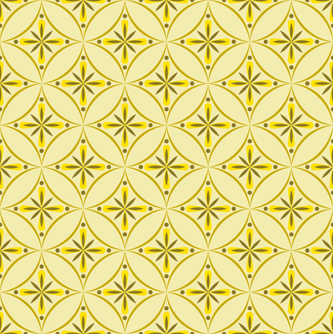Moroccan Tiles 2 - Yellow fabric by shannonmac on Spoonflower - custom fabric