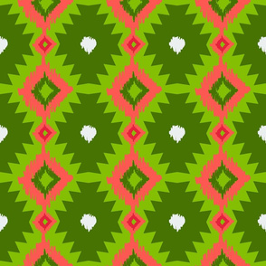 Tribal Rind Green Ikat