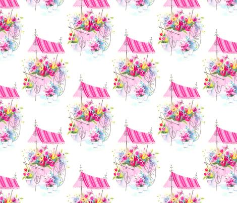 My FLower Cart by Paris Bebe fabric by parisbebe_com on Spoonflower - custom fabric