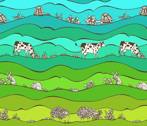 Manure? For Sure! fabric by ceanirminger on Spoonflower - custom fabric