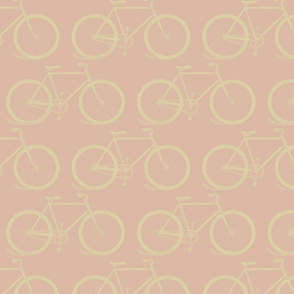 Retro Bicycles in Pink and Yellow