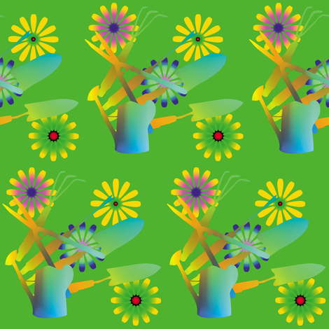 Gardening Tools 2 fabric by animotaxis on Spoonflower - custom fabric
