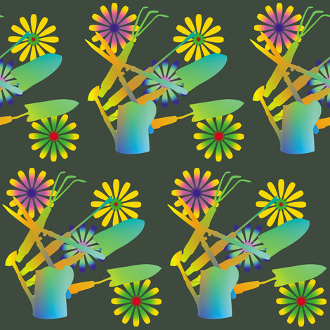 Gardening Tools 5 fabric by animotaxis on Spoonflower - custom fabric