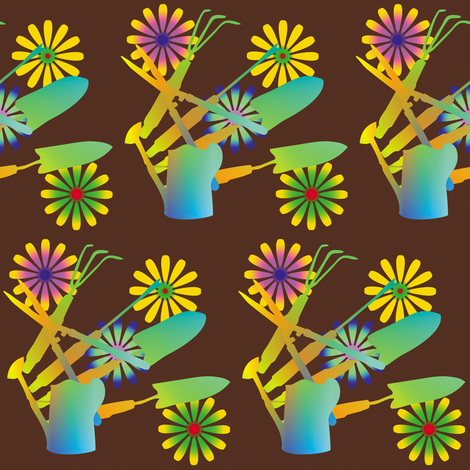 Gardening Tools 6 fabric by animotaxis on Spoonflower - custom fabric