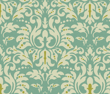 Aqua_Spice_Damask fabric by kelly_a on Spoonflower - custom fabric