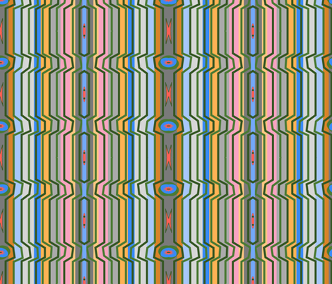drafting stripes 2 fabric by walkwithmagistudio on Spoonflower - custom fabric