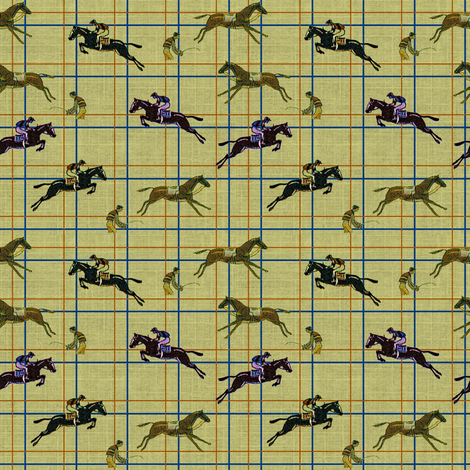 Aintree Chasers fabric by ragan on Spoonflower - custom fabric