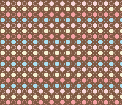 Ice Cream Circles fabric by emily_caraballo on Spoonflower - custom fabric