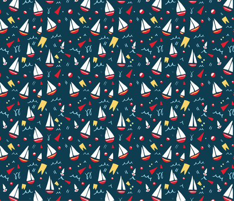 Ship Shape fabric by caroline_watkins on Spoonflower - custom fabric