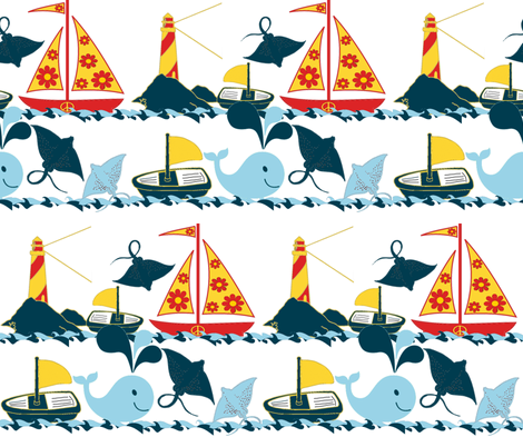 HIPPIE SHIP fabric by bluevelvet on Spoonflower - custom fabric