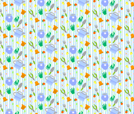Garden Tools fabric by countrygarden on Spoonflower - custom fabric