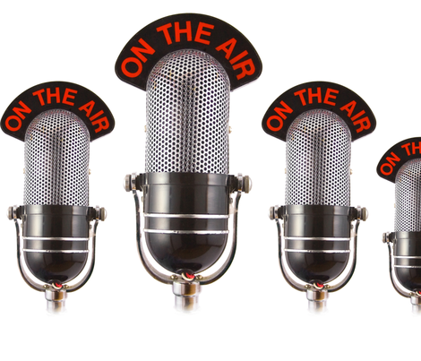 On The Air Microphone fabric by bluewrendesigns on Spoonflower - custom fabric