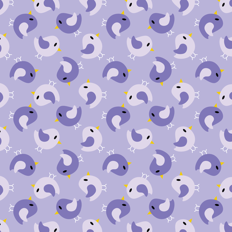 Purple Birds Reversed fabric by shelleymade on Spoonflower - custom fabric
