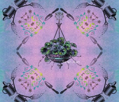Hanging Garden Fabric Print