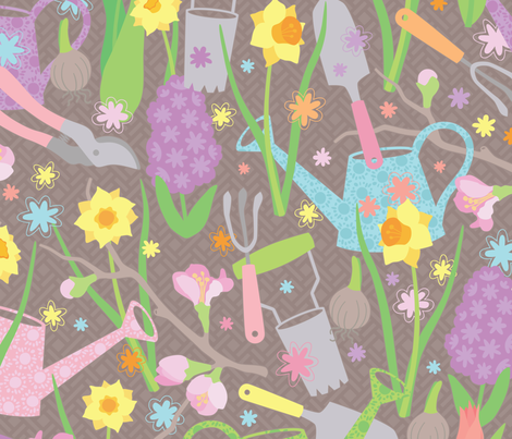 Green Thumb fabric by jennartdesigns on Spoonflower - custom fabric