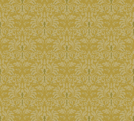 Golden_Sand_Damask fabric by kelly_a on Spoonflower - custom fabric