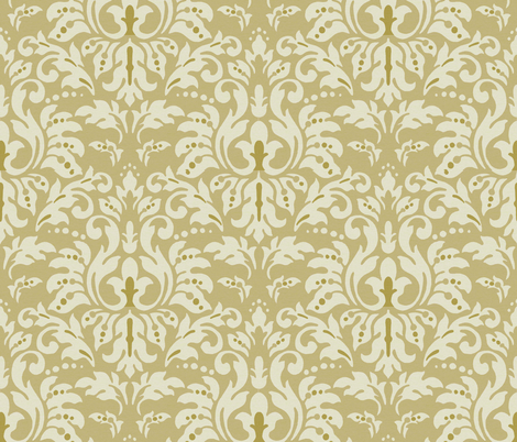 Mocha_Milk_Damask fabric by kelly_a on Spoonflower - custom fabric