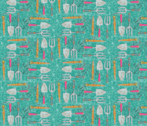 YouthArt Herb Tools fabric by lizartelier on Spoonflower - custom fabric