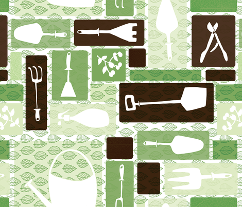 My Garden Tools fabric by noaleco on Spoonflower - custom fabric