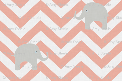 Baby Elephants in Coral