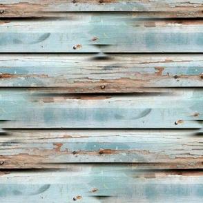 100 year old wood wall in Sisters OR by Paris Bebe