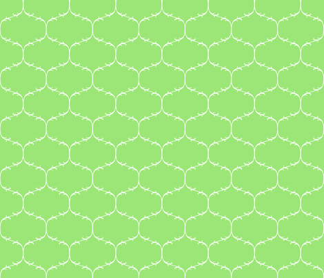 Green Trellis fabric by amazinart on Spoonflower - custom fabric