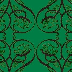 Art Nouveau15-teal/black