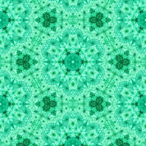 emerald jellyfish kaleidoscope fabric by alainasdesigns on Spoonflower - custom fabric