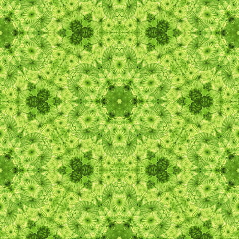 lime jellyfish kaleidoscope fabric by alainasdesigns on Spoonflower - custom fabric