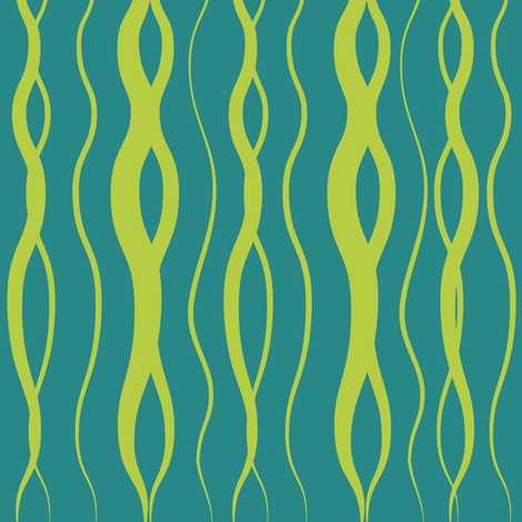 Blue/Lime Kelp fabric by alainasdesigns on Spoonflower - custom fabric