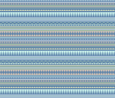 Aztec Stripe Blue fabric by kimsa on Spoonflower - custom fabric