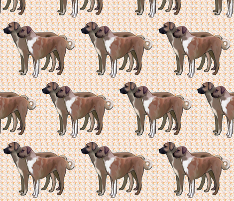 Anatolian Shepherds and Paisley fabric by dogdaze_ on Spoonflower - custom fabric