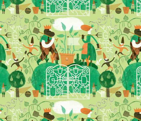 En garde! fabric by lien_geeroms on Spoonflower - custom fabric