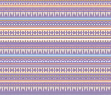 Aztec Stripe Purple fabric by kimsa on Spoonflower - custom fabric