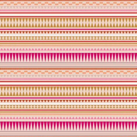 Aztec Stripe Peach fabric by kimsa on Spoonflower - custom fabric