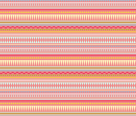 Aztec Stripe Spring fabric by kimsa on Spoonflower - custom fabric