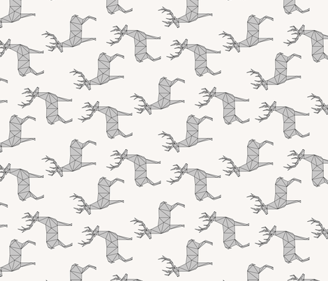 Deer gray (vertical) fabric by kimsa on Spoonflower - custom fabric