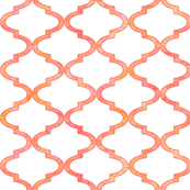 Patterned rose Moroccan quatrefoil