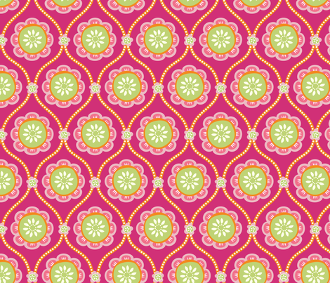 Citrus Flower PINK fabric by jillbyers on Spoonflower - custom fabric