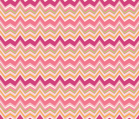 Chevron PINK fabric by jillbyers on Spoonflower - custom fabric