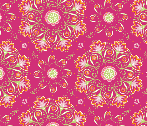suzy buttons PINK fabric by jillbyers on Spoonflower - custom fabric